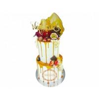 Свадебный Торт С Фруктами Двухъярусный T23447