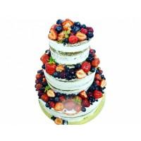 Свадебный Торт С Фруктами Без Мастики T23450