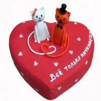 Торт Влюбленные котики